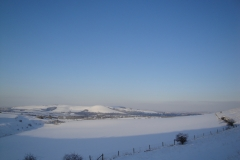 View from Beddingham hill in snow